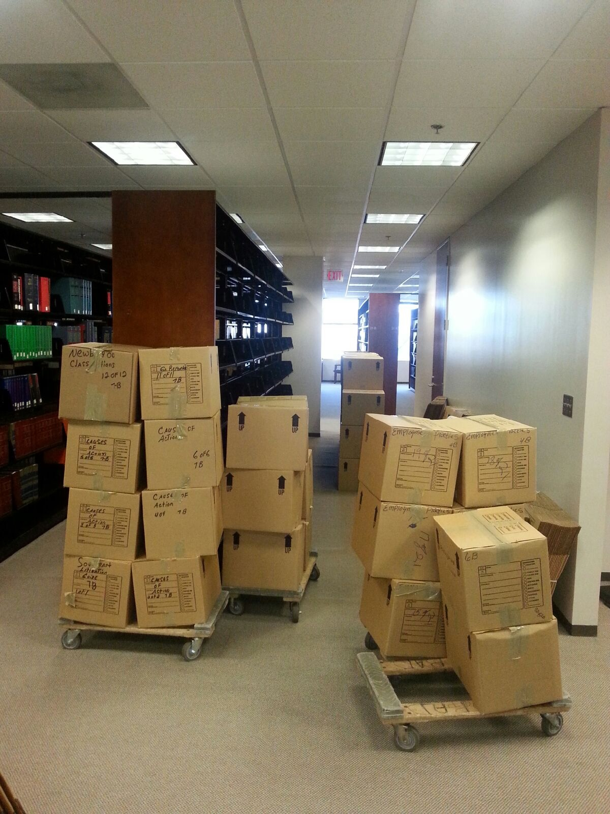 Atlanta Cargo is pleased to relocate the Fulton Legal Library to it's new home.